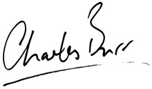 Charles Burr handwritten name